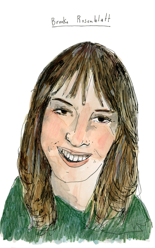 Drawing of Brooke Rosenblatt
