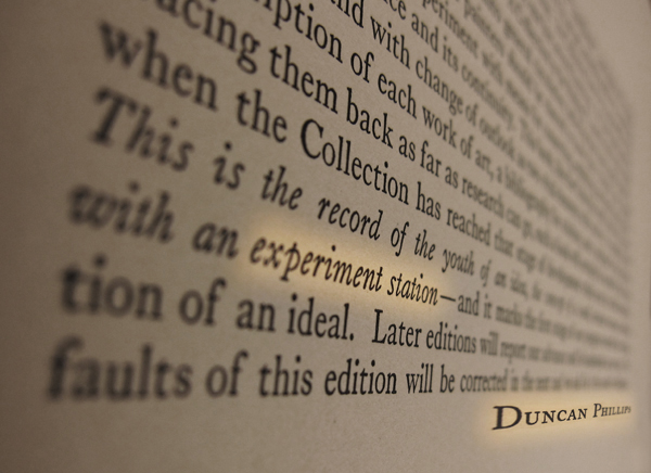 Preface, A Collection in the Making (1926), Duncan Phillips. Photo illustration: Sarah Osborne Bender