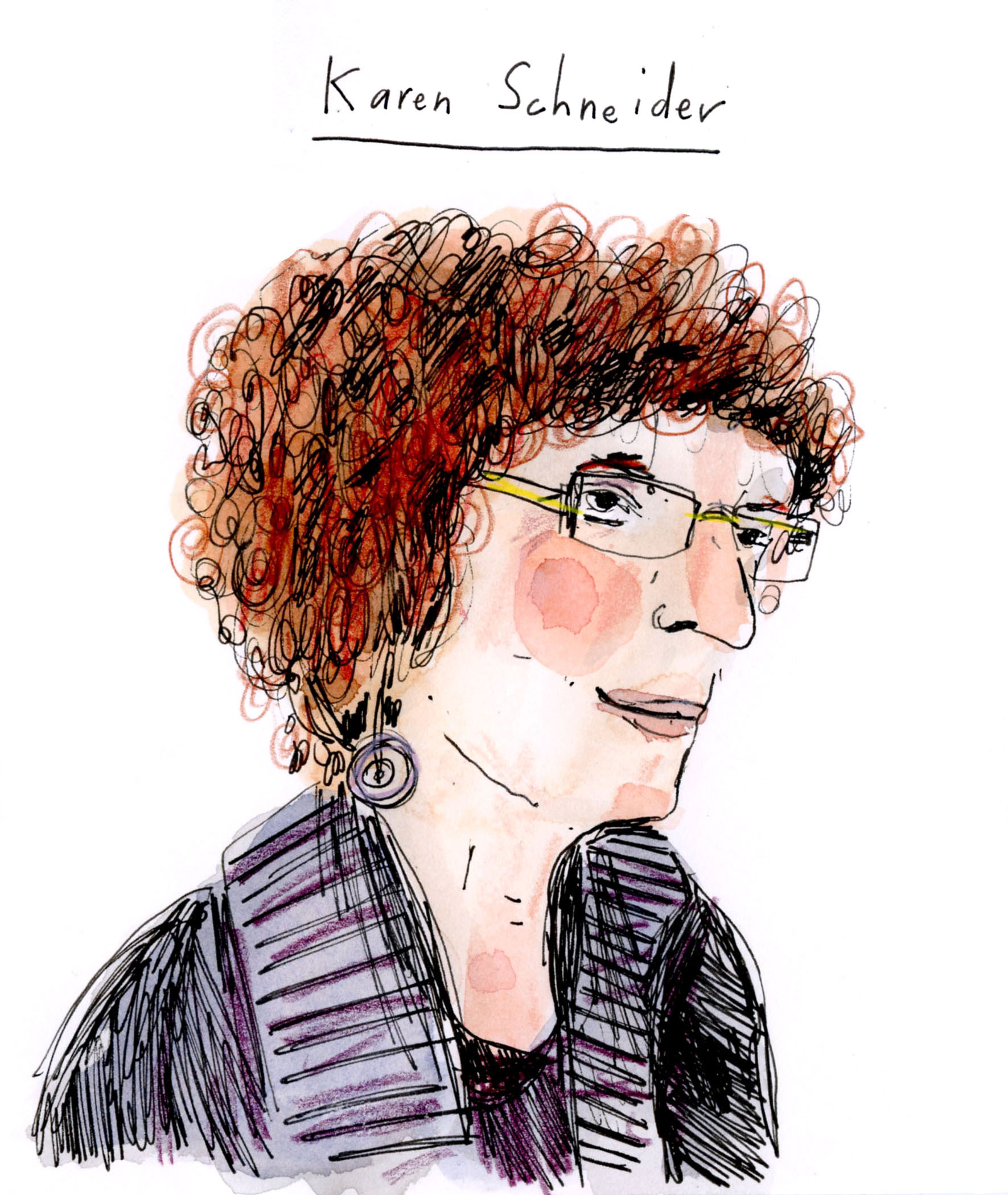 Drawing of Karen Schnieder