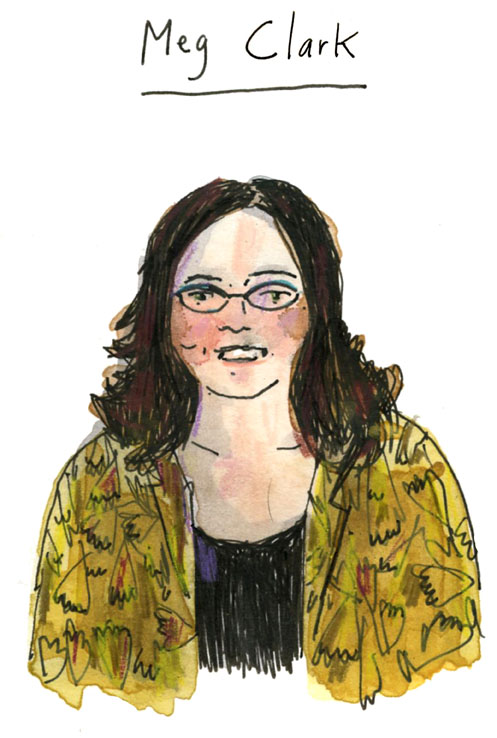 Drawing of Meg Clark