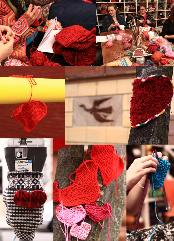 The Phillips Collection and Looped Yarn Works teamed up to send a cozy valentine to Dupont Circle. Photos: Charles Mahorney.