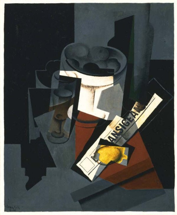 Juan Gris, Still Life with Newspaper, 1916. Oil on canvas,