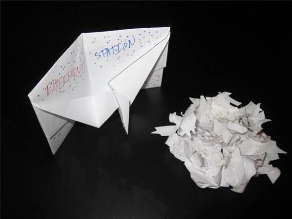 Photo of oragami crane card by anonymouse contributor with experimental nest by Patti Favero