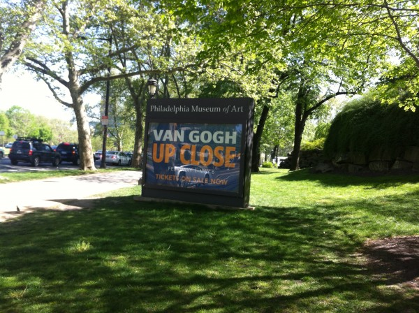 A sign for the van Gogh exhibition. Photo: Brooke Rosenblatt.