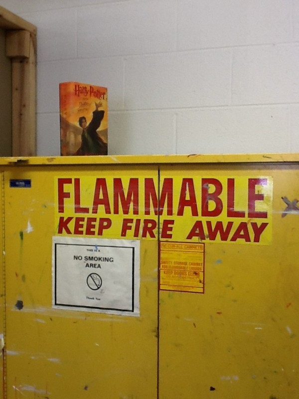 """Flammable Objects"" Photo: Meg Clark"