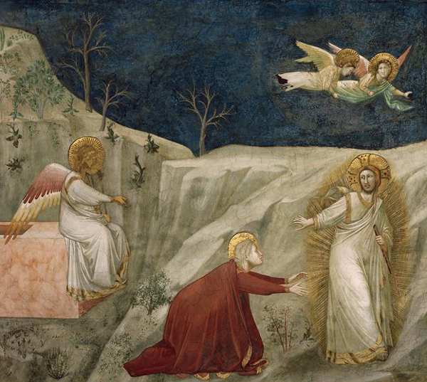Noli me tangere, Attributed to Giotto, Basilica of St. Francis of Assisi