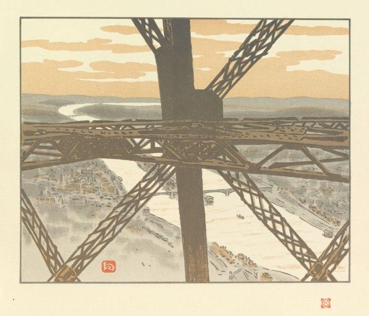 Henri Rivière, Planche 25, Dans la tour (Plate 25, Inside the Tower)