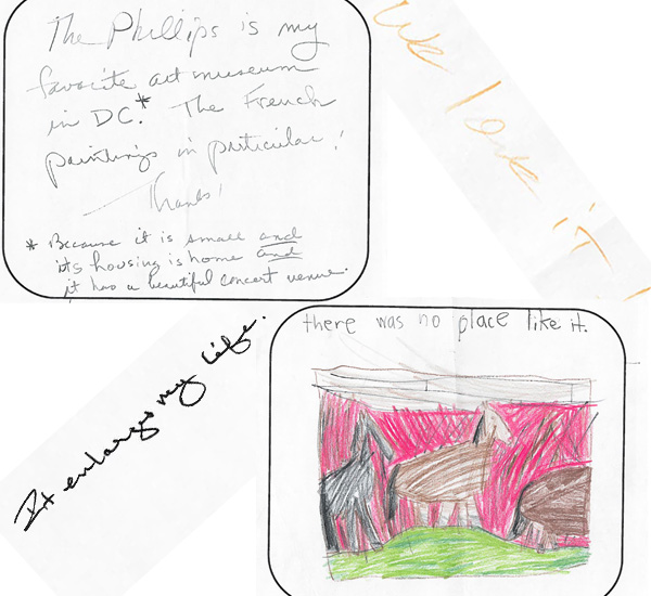 visitor responses to Art Museum Day 2012