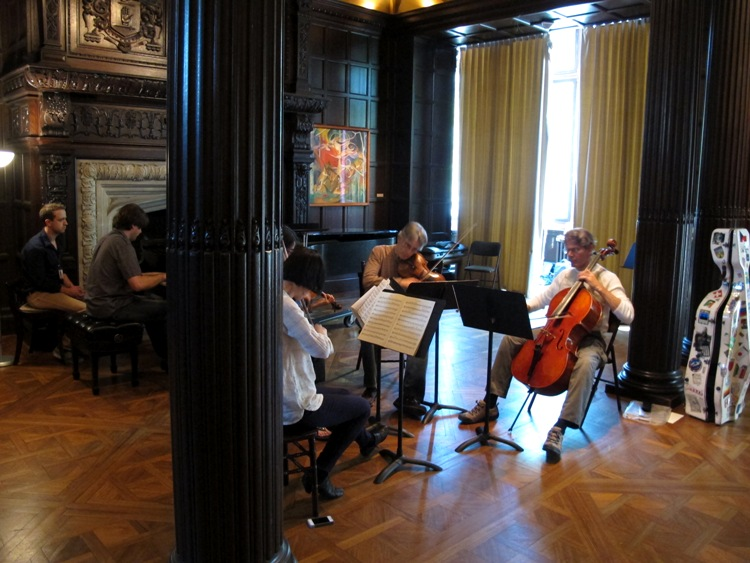 Members of the Phillips Camerata rehearsing in the Music Room