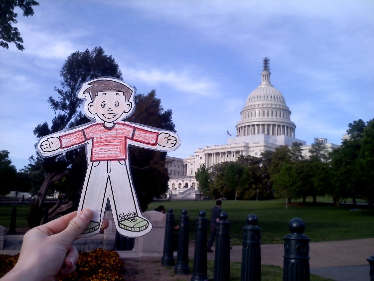 Flat Stanley visits the U.S. Capitol Building. Photo: Natalie Mann