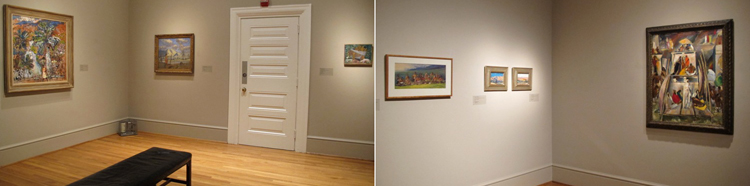 Paintings installed in Gallery F.