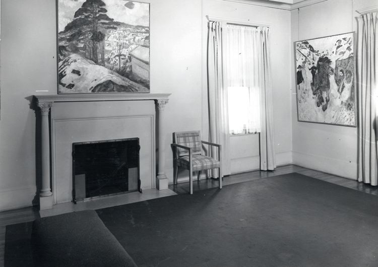 Edvard Munch in Gallery D, 1950