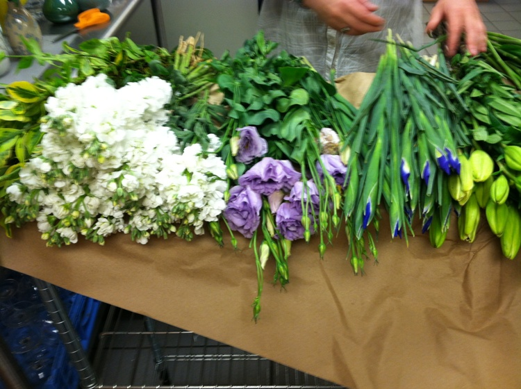 Fresh-cut flowers for the tables