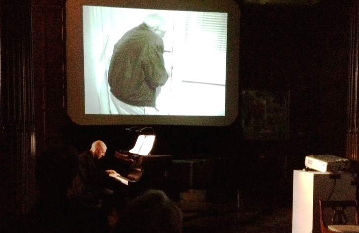 Performance of Michel van der Aa's Transit, combining piano performed by Jacob Greenberg and projected film