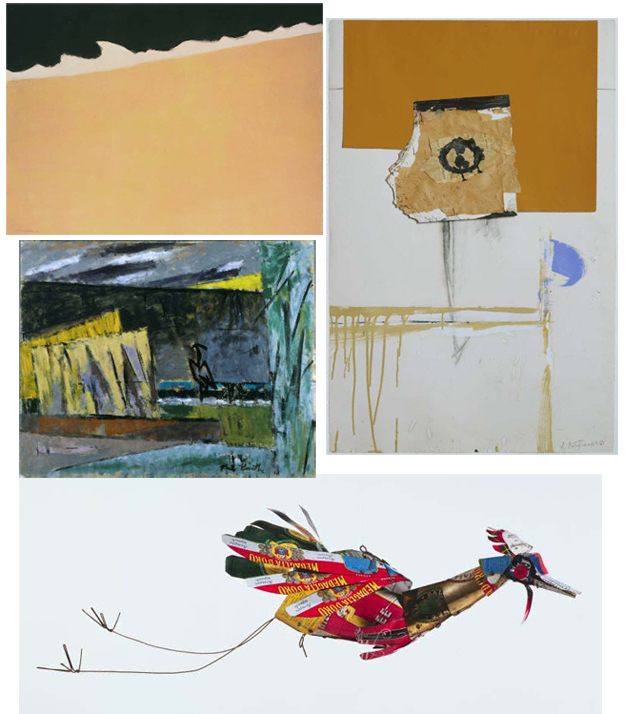 Works by Milton Avery, Robert Motherwell, Alexander Calder, and Karl Knaths