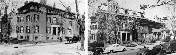 The Phillips family house at 21st and Q Streets NW, built in 1897