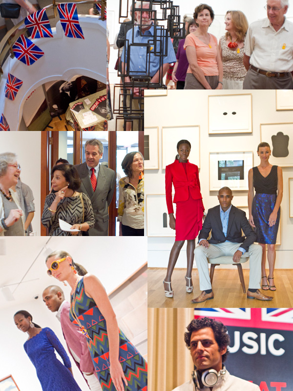 A collage of photographs from a recent Phillips after 5 event with a British theme. Photos: Sue Ahn