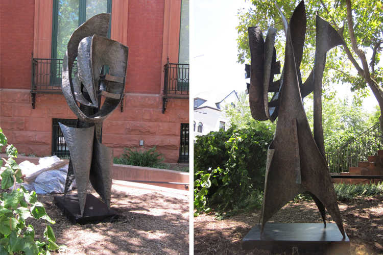 Images of the sculpture installed