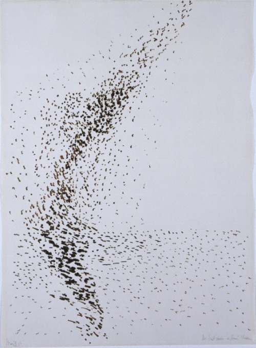 Nicolas de Stael, Birds in Flight, 1951. Felt-tipped pen on paper, 28 1/4 x 20 1/4 in. The Phillips Collection, Washington, D.C. Acquired 1964.