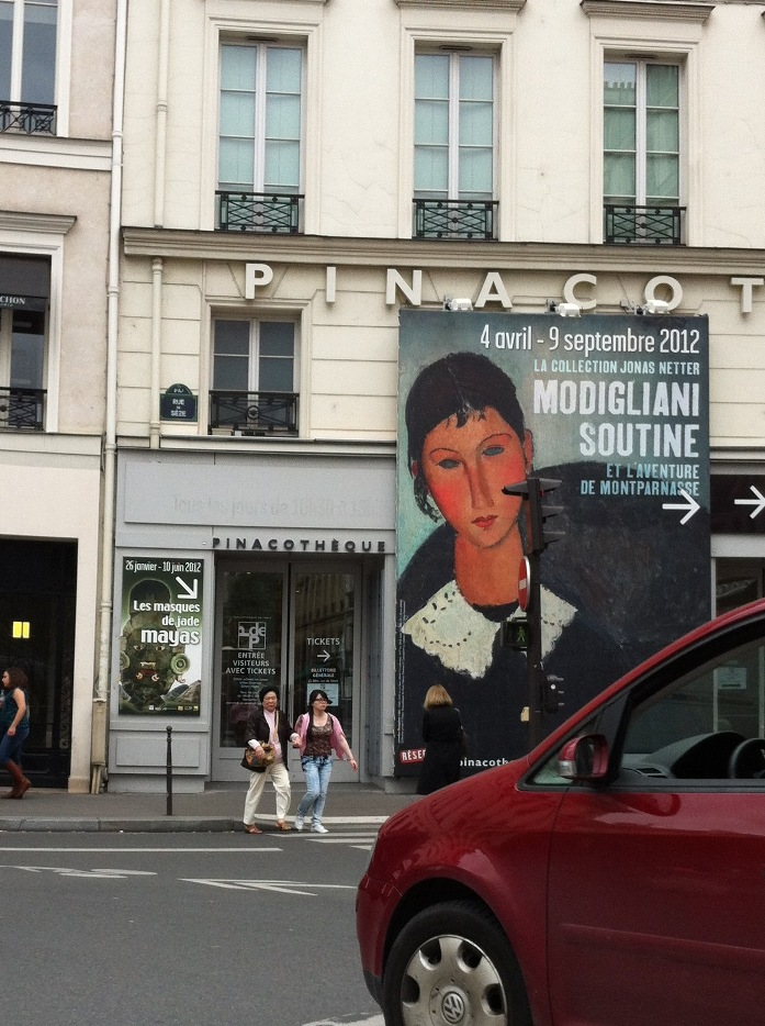 Exhibition announcement outside the Pinacothèque de Paris. Photo: