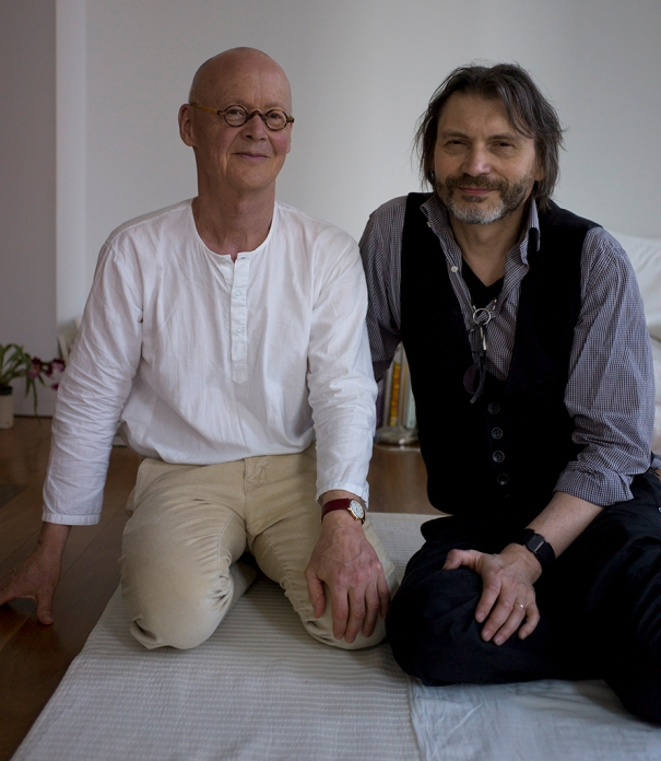 Artist Wolfgang Laib with Curator-at-Large Klaus Ottmann