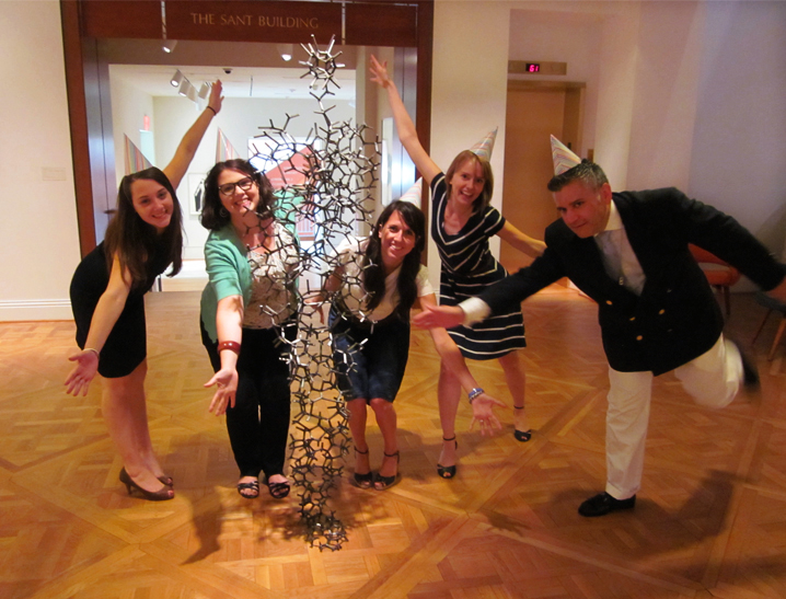 Phillips staff celebrate Antony Gormley's birthday
