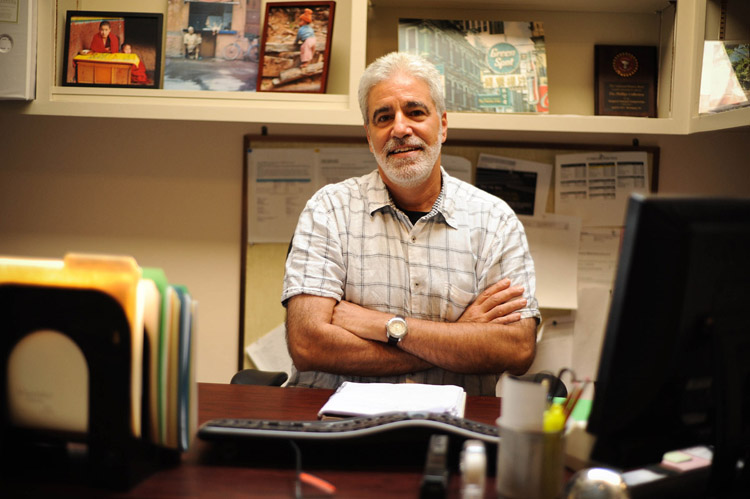 Photograph of Keith Costas in his office by Joshua Navarro