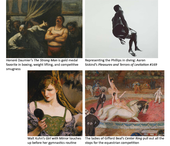 Images of works from the collection that represent athletes