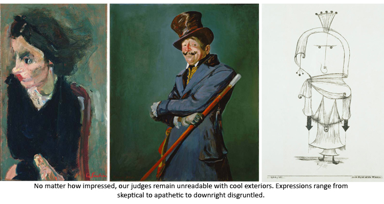 Images of works from the collection representing judges
