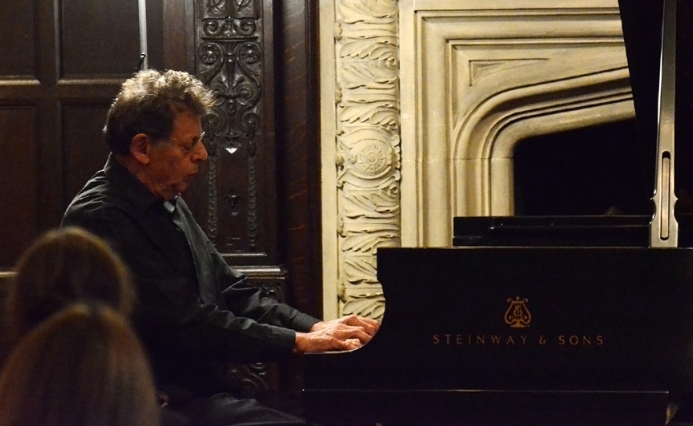 Philip Glass playing his own compositions at Phillips Sunday Concerts 2011. Photo: James R. Brantley