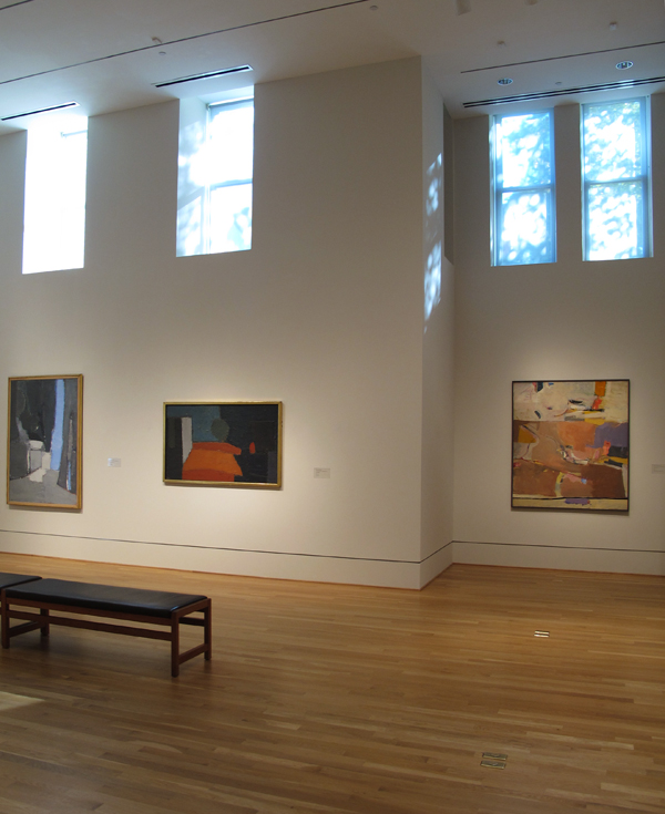 Paintings by Nicolas de Stael and Richard Diebenkorn. Photos: Sarah Osborne Bender