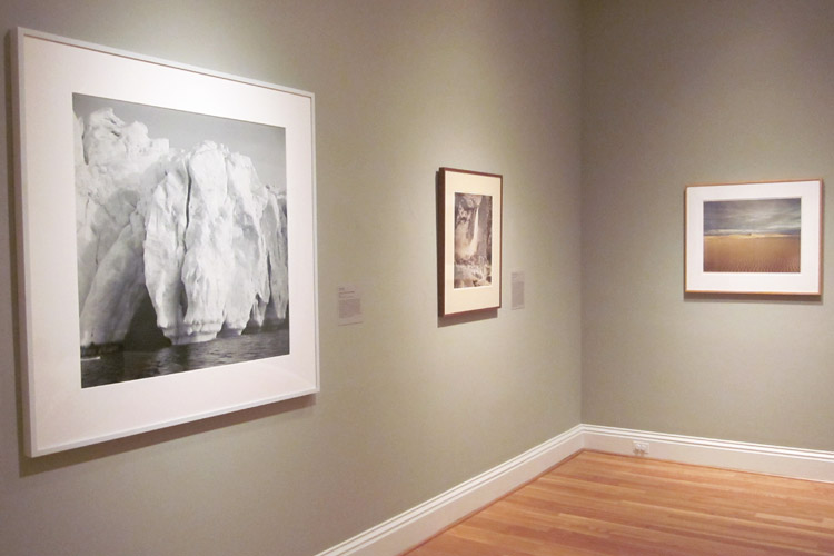 Image of three photographs featured in the Picturing the Sublime exhibition