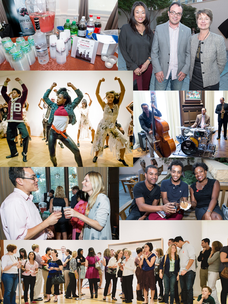 Photo collage of dancers, musicians, and guests from Phillips after 5 on October 4, 2012