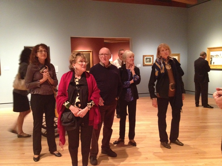 Phillips patrons and trustees explore the galleries at Crystal Bridges. Photos: Dorothy Kosinski