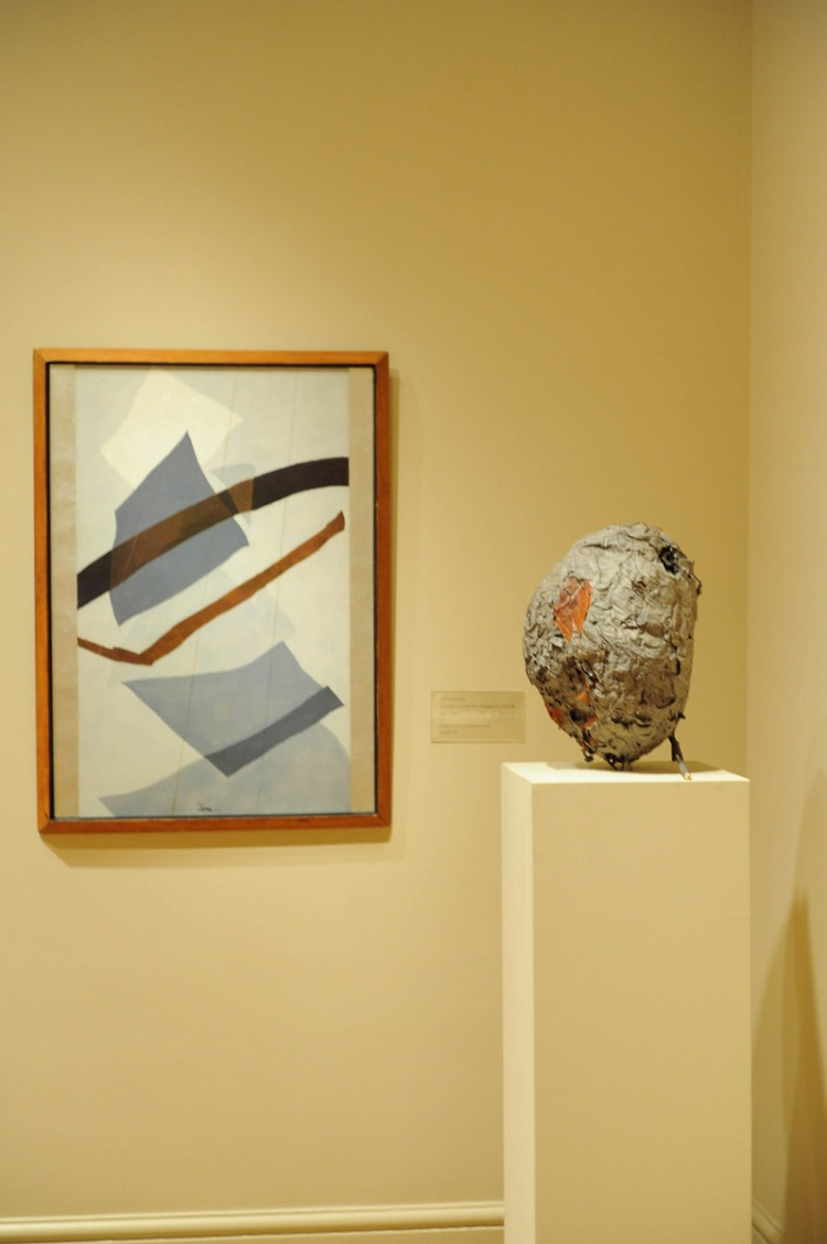 Arthur Dove's Rain or Snow (1943) with Hornet's Nest in the Main Gallery. Photo: Joshua Navarro