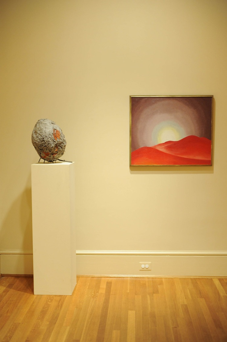 Hornet's Nest with Georgia O'Keeffe's Red Hills, Lake George (1927) in the Main Gallery. Photo: Joshua Navarro