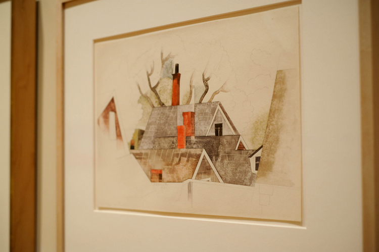 Charles Demuth,  Red Chimneys, 1918