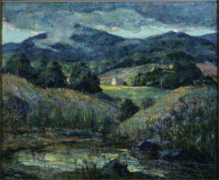 Ernest Lawson, Approaching Storm, 1919-20. Oil on canvas mounted on wood, 24 3/4 x 30 in. The Phillips Collection, Washington, D.C. Acquired 1922.