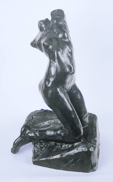 Auguste Rodin, Female Torso, Kneeling, Twisting Nude, Date of modeling unknown; Musee Rodin cast II/IV, 1984. Bronze, overall: 23 3/4 x 12 5/8 x 13 3/4 in. The Phillips Collection, Washington, D.C. Gift of Iris & B.