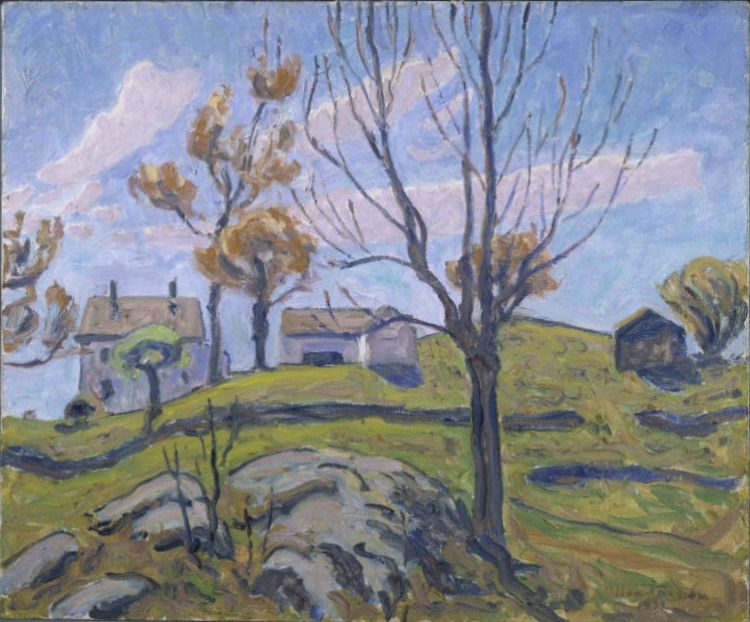 Allen Tucker, Autumn Farm, 1931. Oil on canvas, 20 x 24 in. The Phillips Collection, Washington, D.C. Acquired 1934