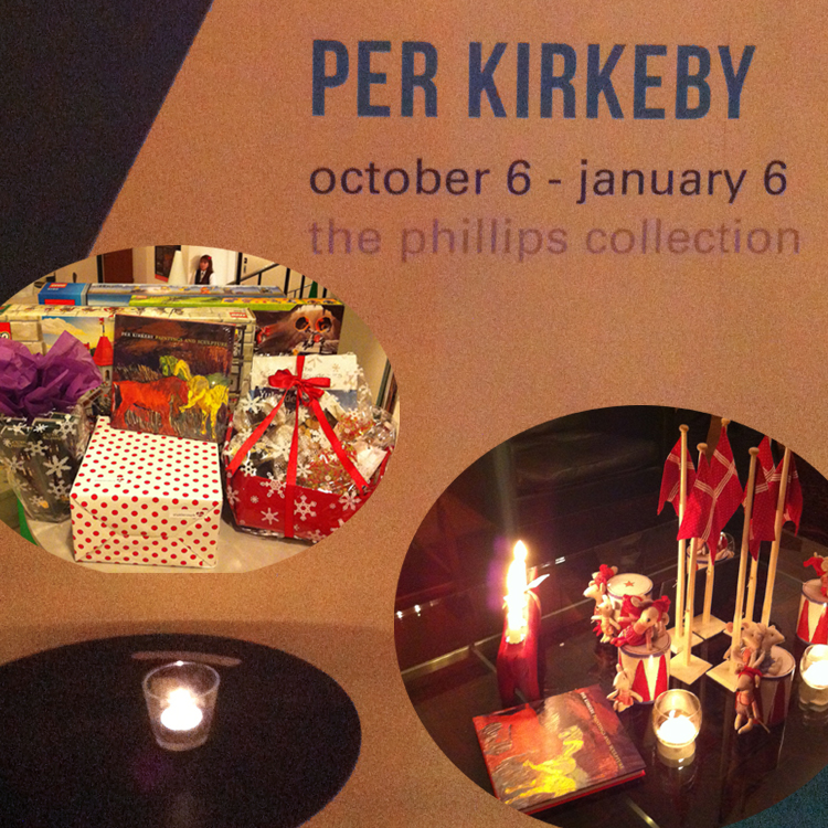 Holiday decorations at the Royal Danish Embassy celebrate Per Kirkeby and other Danish ar