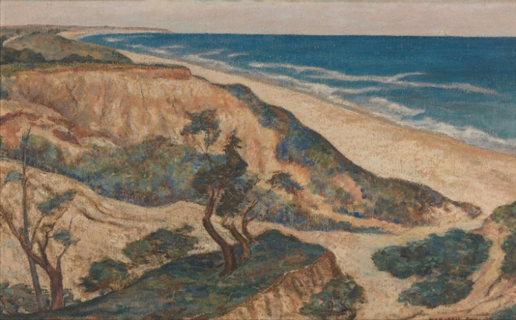 Marjorie Phillips, Montauk Point, c. 1922. Oil on canvas, 18 7/8 x 30 3/8 in. The Phillips Collection, Washington, D.C. Bequest of Elmira Bier, 1976.
