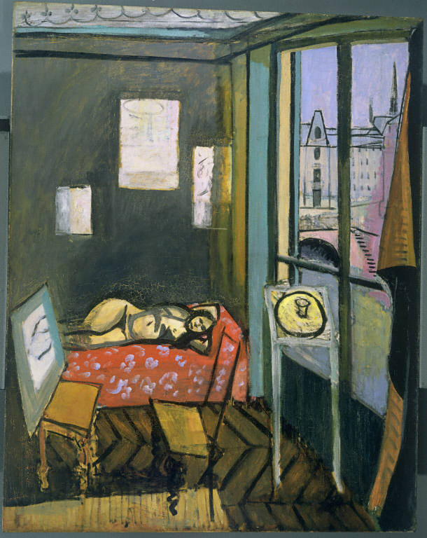 Henri Matisse, Studio, Quai Saint-Michel, 1916. Oil on canvas, 58 1/4 x 46 in. The Phillips Collection, Washington, D.C. Acquired 1940