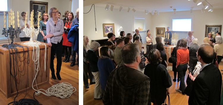 Artist Jeanne Silverthorne gives a gallery talk on her freshly installed works, February 28th. Photos: Sarah Osborne Bender