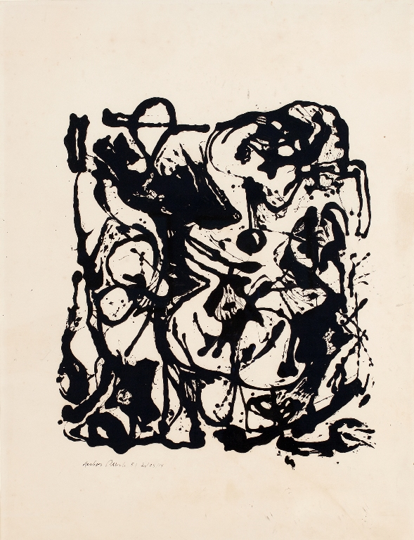 Jackson Pollock, Untitled, 1951. Enamel, India ink, and graphite on paper, 29 x 22 in. Private Collection © 2012 The Pollock-Krasner Foundation / Artists Rights Society (ARS), New York