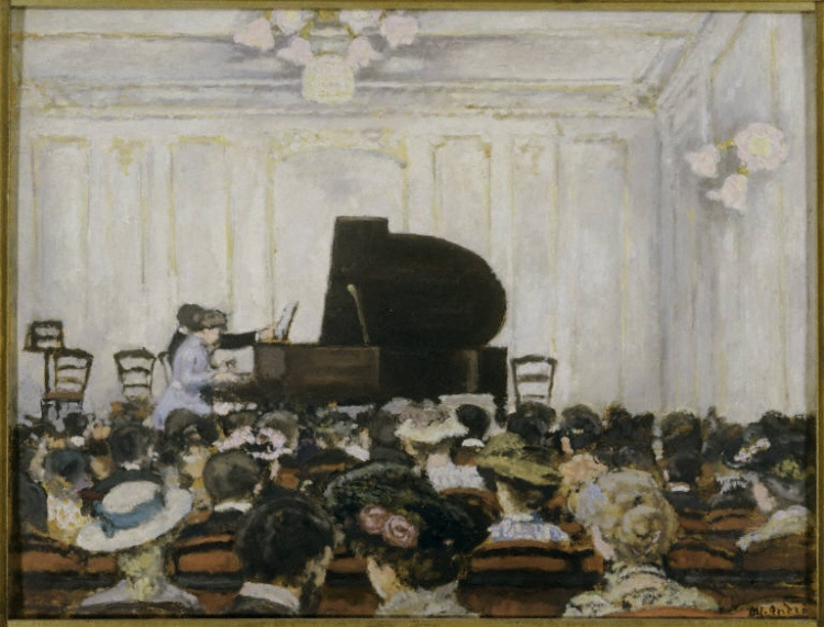 Albert André, The Concert, 1903. Oil on cardboard on wood panel,. 20 3/4 x 26 3/4 in. The Phillips Collection, Washington, D.C. Acquired 1923