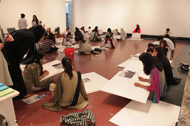 Talented teenagers as far as the eye could see at today's workshop! Photos: Rachel Goldberg