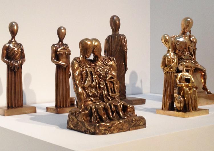 Gold sculpture by Giorgio De Chirico