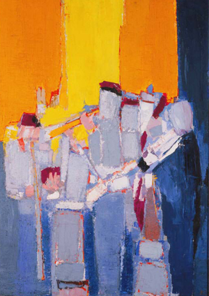 Painting by Nicolas de Stael