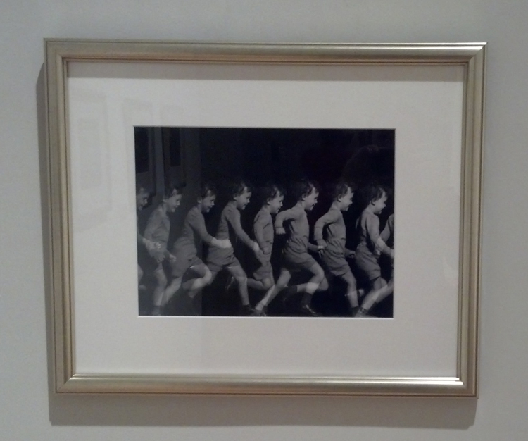 Installation shot of Mili's Multiple Image of little boy running, 1941  Photo: Liza Key Strelka